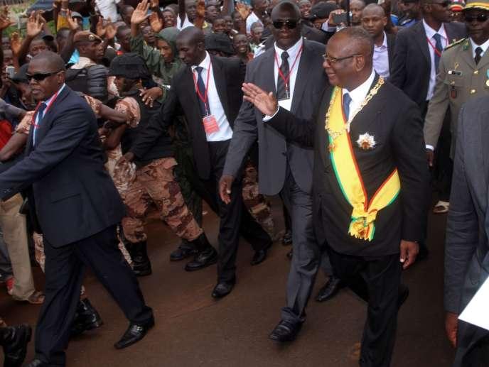Le nouveau président malien Ibrahim Boubacar Keïta après son investiture, le 4 septembre à Bamako.