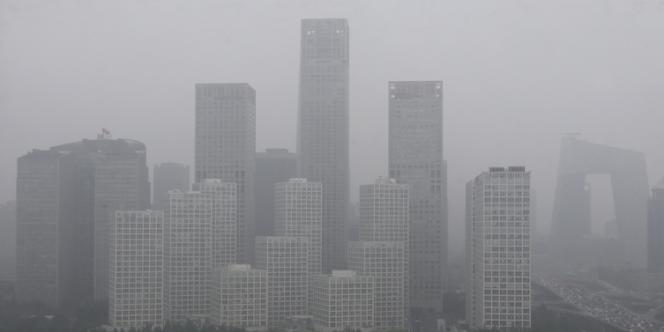 La pollution, au dioxyde de carbone notamment, est un problème récurrent en Chine. Ici, à Pékin, en juillet 2013.