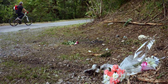 L'emplacement de la tuerie de Chevaline, en septembre 2012.