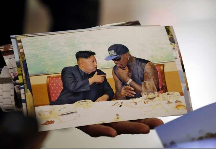 L'ancien basketteur américain Dennis Rodman et le dirigeant nord-coréen, Kim Jong-un.