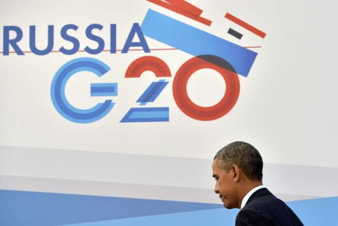 Conférence de presse de Barack Obama à Saint-Pétersbourg le 6 septembre en marge du sommet du G20.