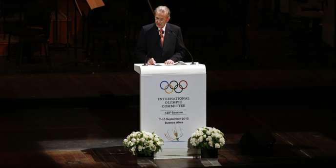 Le président du Comité olympique international, Jacques Rogge, vendredi 6 septembre à Buenos Aires.