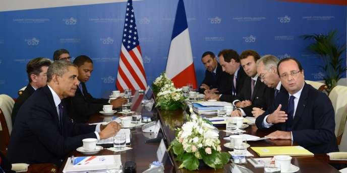 Rencontre bilatérale entre Barack Obama et François Hollande, en marge du G20 de Saint-Pétersbourg.