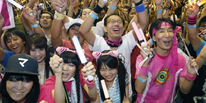 Des supporters de Tokyo 2020, le 8 septembre au Japon.