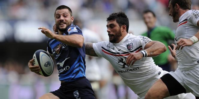 Jonathan Pelissié file à l'essai malgré le retour de Yann David, le 8 septembre dernier lors de la victoire de Montpellier sur Toulouse.