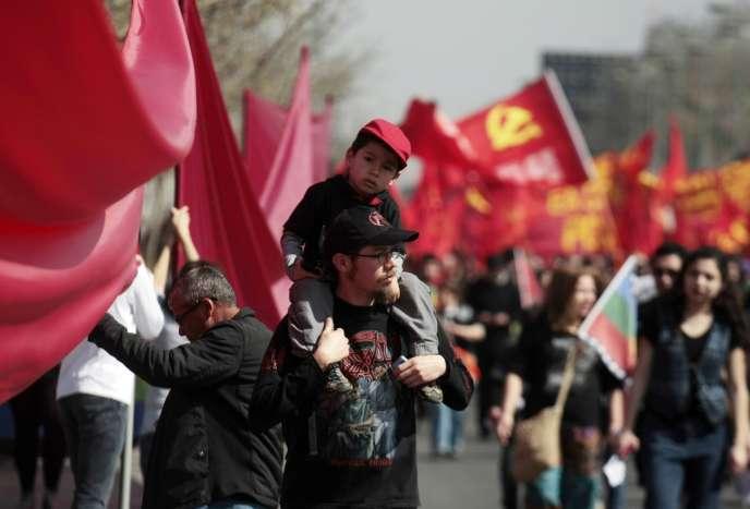 Manifestation en mémoire de la dictature de Pinochet, le 8 septembre 2013 à Santiago au Chili.
