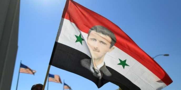 Manifestation de partisans du président Bachar Al-Assad à Los Angeles, le 7 septembre.
