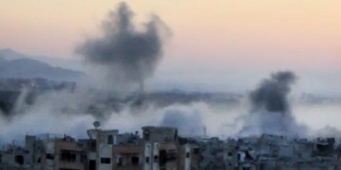 Bombardement à Barzeh, près de Damas, le 10 septembre.