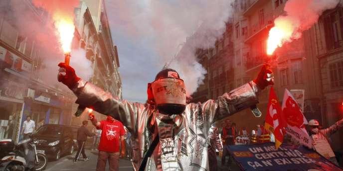 A Marseille, le 10 septembre. Les revendications ne sont pas limitées aux retraites :