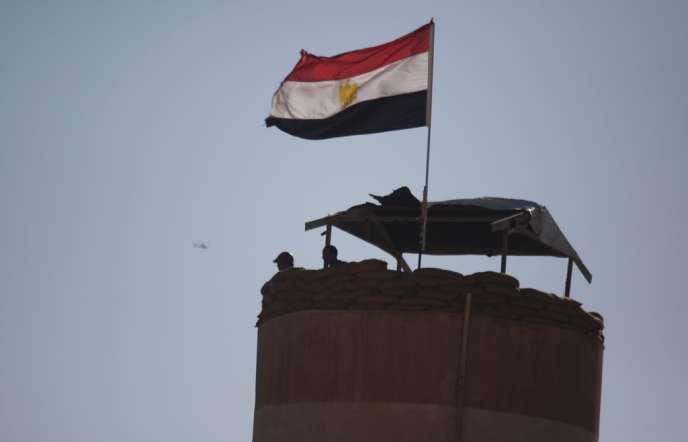 Le 8 septembre, des militaires égyptiens dans le Sinaï, une région en proie à des épisodes de violence depuis la destitution du président Morsi.