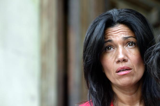 Samia Ghali, sénatrice et maire du 8e secteur de Marseille, candidat à la primaire socialiste pour la municipale de 2014.