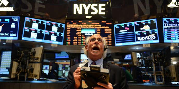 Un trader de la bourse de New York, le 5 mars 2013