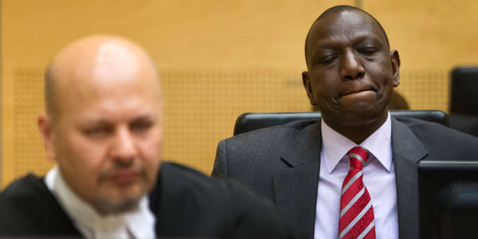 Le vice-président du Kenya, William Ruto, ici à La Haye, le 10 septembre, devra siéger dans le box des accusés de la CPI jusqu'au terme de son procès.
