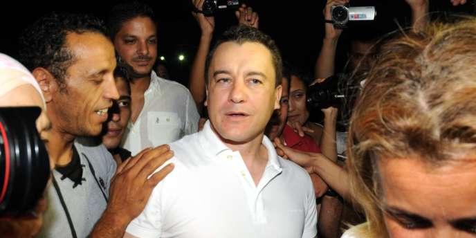 Sami Fehri, peu après sa libération, le mercredi 11 septembre.