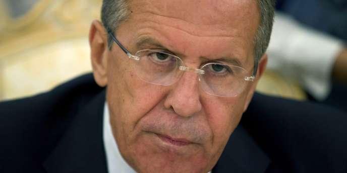 Le ministre russe des affaires étrangères, Sergueï Lavrov, à Moscou, le 10 septembre.