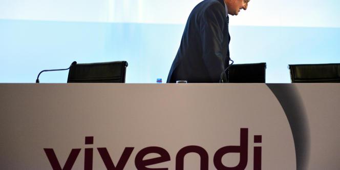 Jean-René Fourtou, président du conseil de surveillance de Vivendi, le 30 avril, à Paris.