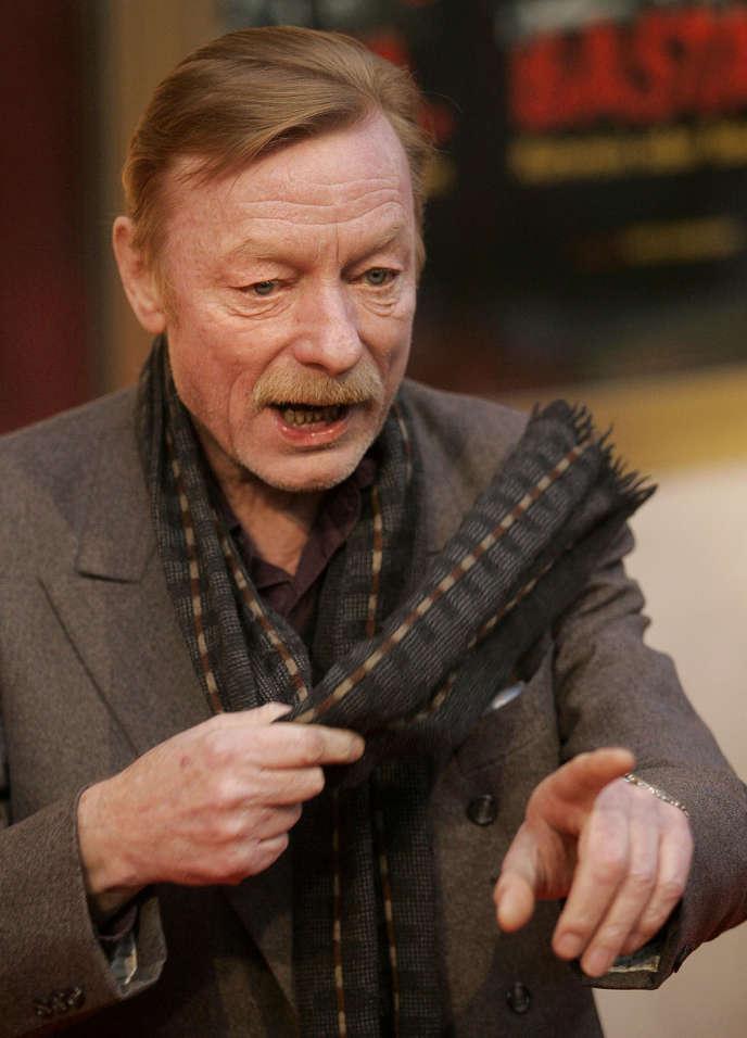 L'acteur Otto Sander (ici en 2005) est mort d'un cancer à Berlin à l'âge de 72 ans.