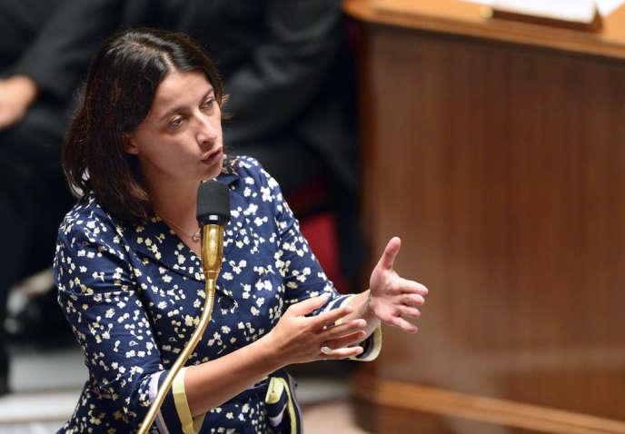 Cécile Duflot défendant son projet de loi logement à l'Assemblée nationale, en septembre.