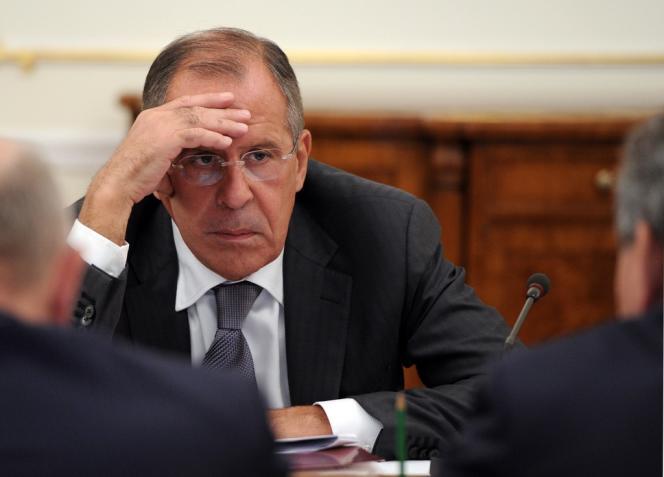 Sergueï Lavrov, le 9 septembre près de Moscou.