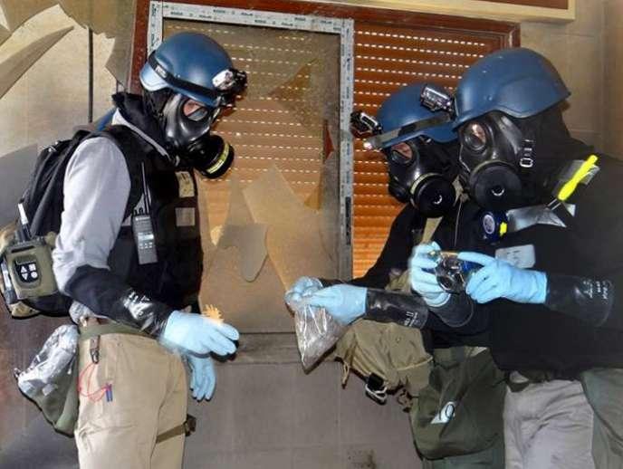 La mission d'inspection de l'ONU, le 29 août près de Damas.