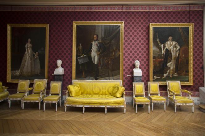 Versailles. La galerie des batailles du château.