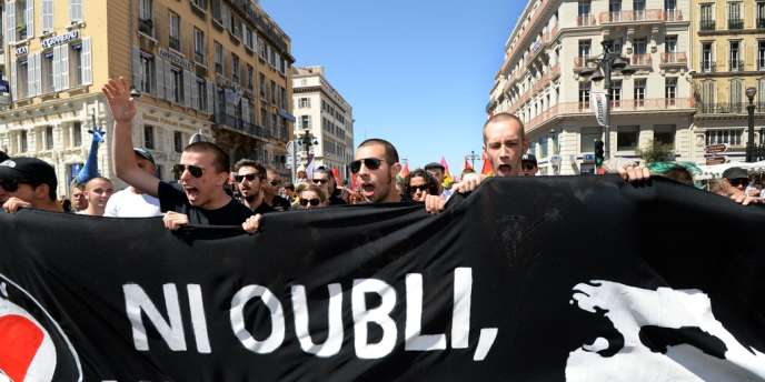 Action antifasciste Marseille, le 22 juin 2013.