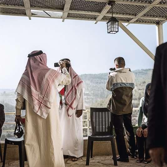 Une délégation des pays du Golfe en visite, en avril 2013.