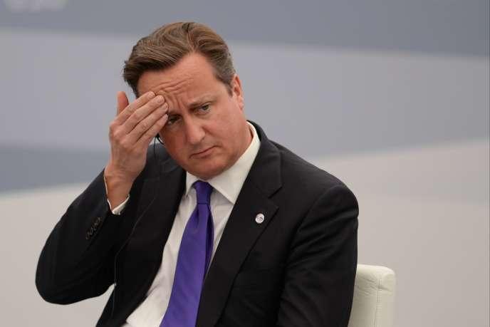 Le premier ministre britannique David Cameron, le 6 septembre à Saint Saint-Pétersbourg.