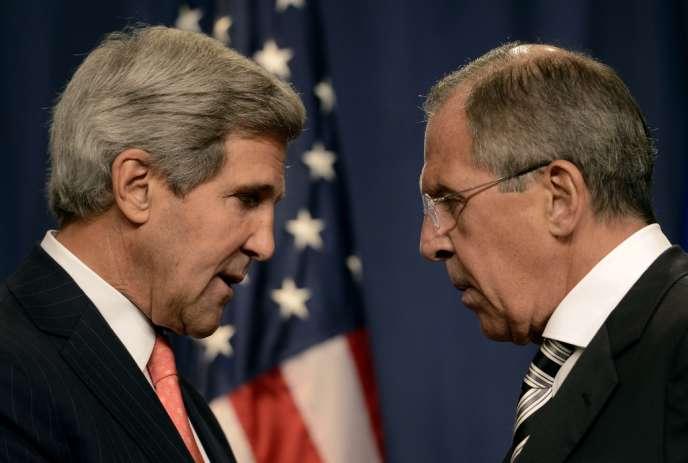 John Kerry et Sergueï Lavrov, le 14 septembre, à Genève.