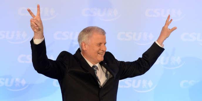 Le ministre président sortant de Bavière, Horst Seehofer, le 15 septembre, après la victoire de son parti, la CSU, aux élections régionales.