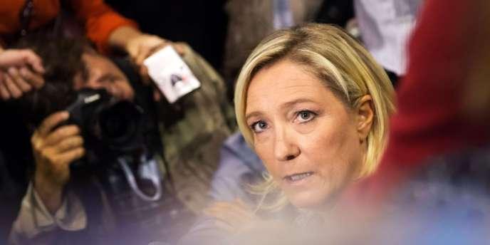 Marine Le Pen, samedi 14 septembre 2013, à Marseille, lors de l'université d'été du Front national.