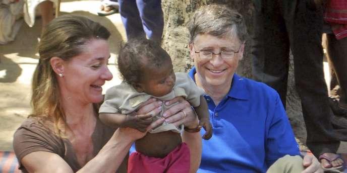 Bill et Melinda Gates (ici en Inde) ont consacré 2 milliards de dollars à la lutte contre le paludisme en dix ans, via leur fondation.