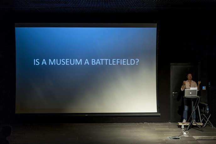 A la Biennale d'Istanbul en septembre 2013.