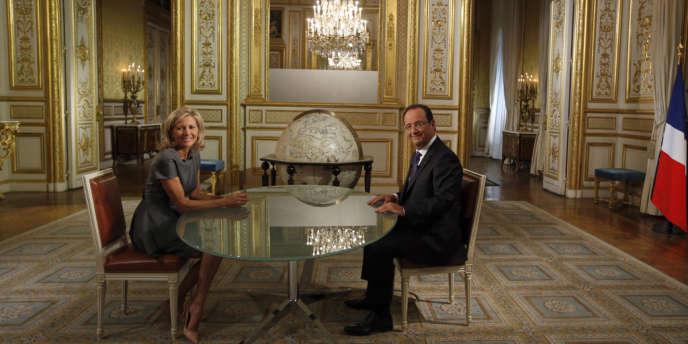 François Hollande dimanche 15 septembre au JT de TF1.