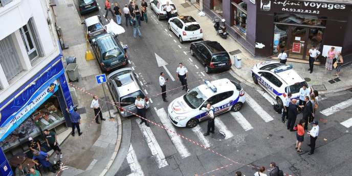 A Nice, la rue dans laquelle Anthony Asli a été tué par le bijoutier qu'il venait de dévaliser.