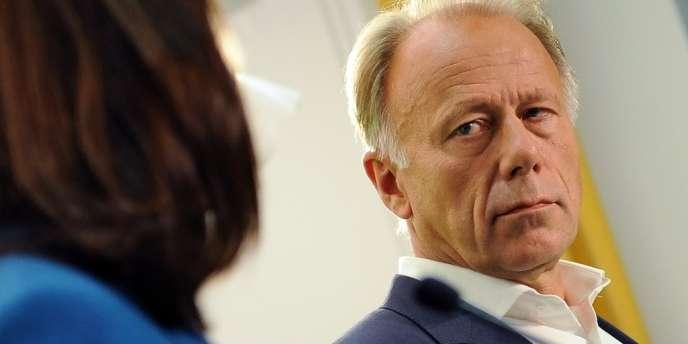 Jürgen Trittin au siège des Verts, à Berlin, le 15 septembre.