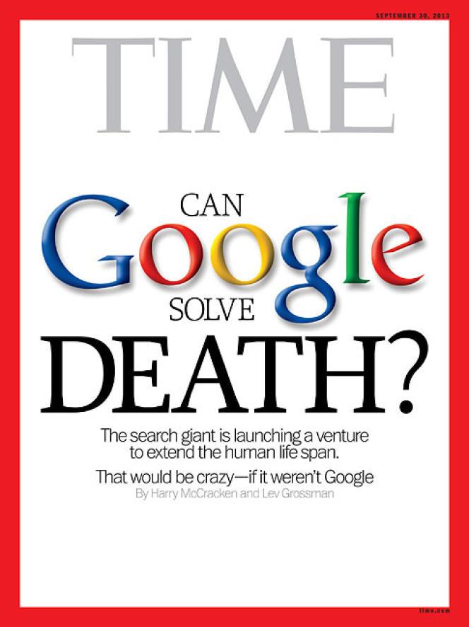 La couverture du magazine Time.