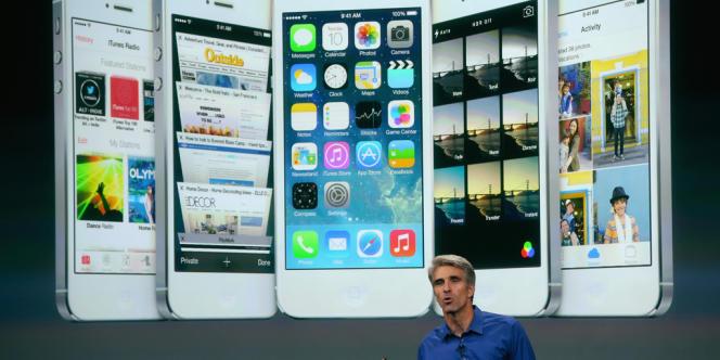 La nouvelle interface de l'iPhone modifie l'apparence du système, sans réellement revoir son agencement.