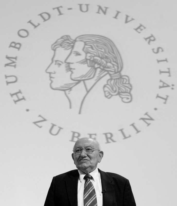 L'écrivain et critique littéraire allemand Marcel Reich-Ranicki, en février 2007.
