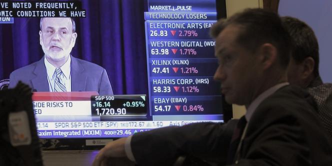 Discours du président de la Fed Ben Bernanke, le 18 septembre, depuis la Bourse de New York.
