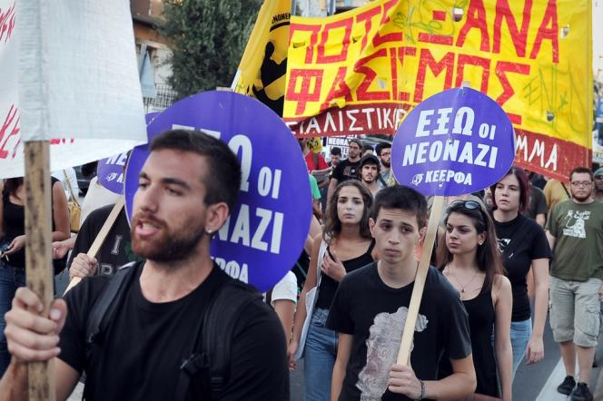Manifestation antifasciste, le 18 septembre à Athènes.