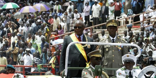 Ibrahim Boubacar Keita alias IBK arrive à sa cérémonie d'investiture, jeudi 19 septembre.