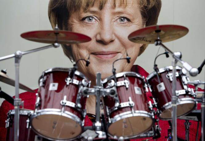 Meeting de campagne de la CDU, à Dresde, en Allemagne, le 15 septembre 2013.