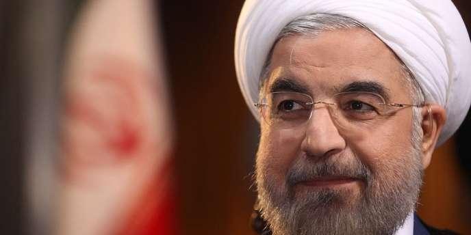 Le président iranien Rohani lors de l'interview diffusée sur NBC, le 18 septembre 2013.
