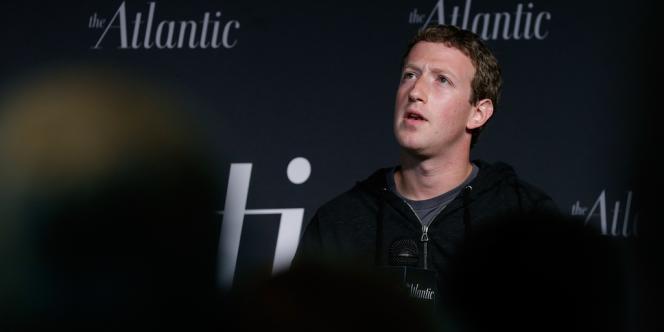 Le cofondateur de Facebook, Mark Zuckerberg, le 18 septembre au Newseum, à Washington.