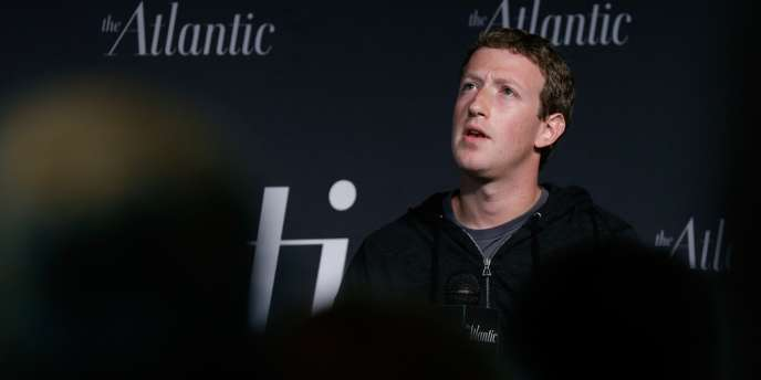 Le cofondateur de Facebook, Mark Zuckerberg, le 18 septembre au Newseum, à Washington.