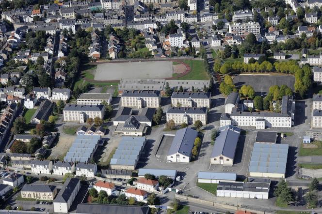 Caserne Mellinet, à Nantes. Vue aérienne.