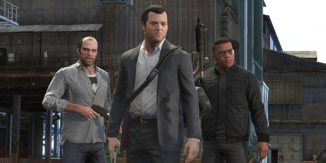 Les personnages principaux de GTA V.