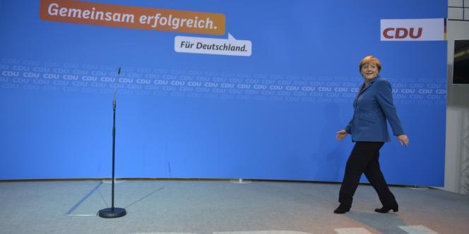 Angela Merkel, le 22 septembre à Berlin.