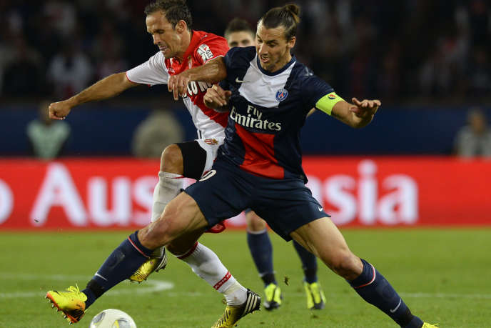 Zlatan Ibrahimovic et Ricardo Carvalho, le 22 septembre à Paris.